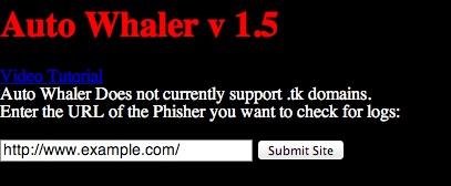 AutoWhaler - skaner ułatwiający przechwytywanie danych zgromadzonych przez phisherów