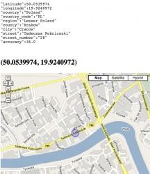 Lokalizacja internautów via Google