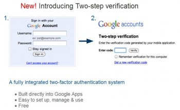 Google (GMail) 2 factor authentication