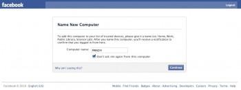Facebook - bezpieczeństwo logowania