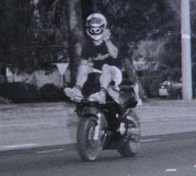 Motocyklista na Fotoradarze