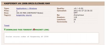 KASPERSKY.AV.2008.SRCS.ELCRABE.RAR.TORRENT