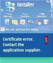 Symbian Certyfikat