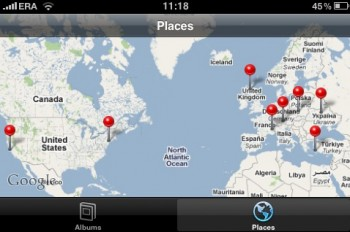 iPhone, miejsca zdjęć