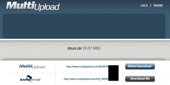 ZeuS RapidShare Multiupload
