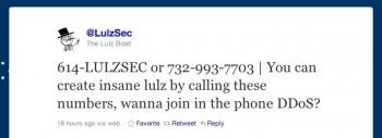 LulzSec phone number 732997703