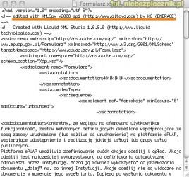 Formularz.xsd ePUAP MSWiA XMLSpy