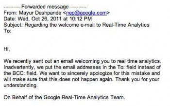 Google Analytics fail