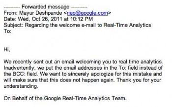 Google Analytics fail