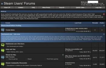 Atak na forum Steam