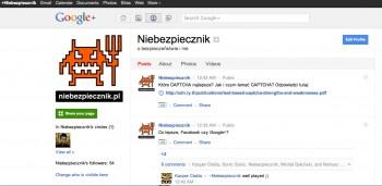 Niebezpiecznik na Google+