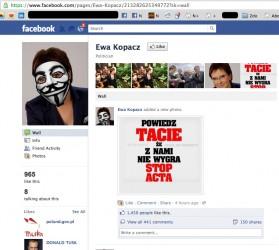 Ewa Kopacz Facebook