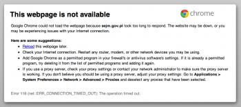 sejm.gov.pl nie działa
