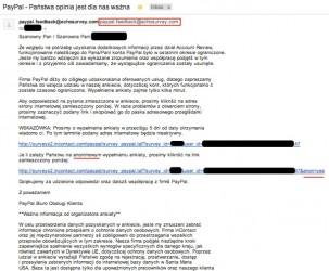 PayPal Ankieta Phishing