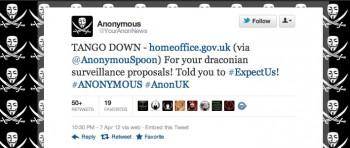 DDoS Anonimowych na rządowe strony UK