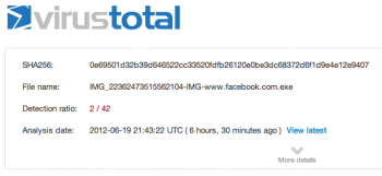 Antivirus scan for a282daf513791602ac367bb48cdf8610 at 2012-06-19 21_43_22 UTC - VirusTotal