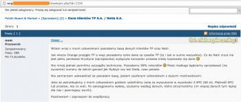 TPSA Netia - baza klientów