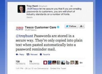 Tesco i hasła - fail