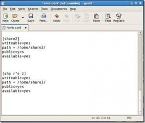 Plik konfiguracyjny Samby - edycja nazwy udziału