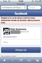 Facebook poprawia login