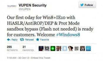 VUPEN 0day windows8 ie10