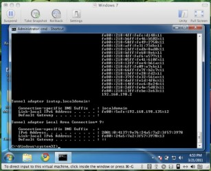 Efekt ataku flood_router6 na Windows