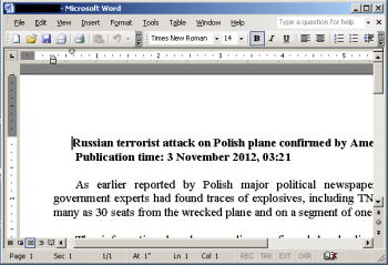 Red October - atak wymierzony w osobę mówiącą po Polsku