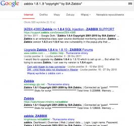 zabbix 1.8.1..9 _copyright * by sia zabbix_ - Szukaj w Google