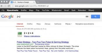 2+2 - Szukaj w Google