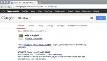666 in hex - Szukaj w Google