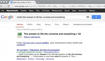 what_s the answer to life the universe and everything - Szukaj w Google