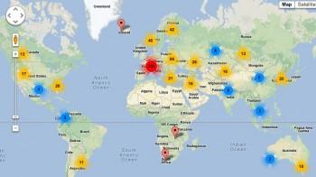 TOR exit nodes, w rozbiciu na kraje