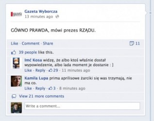 Fanpage Gazeta.pl zhackowany