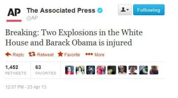 Fałszywe twittnięcie AP