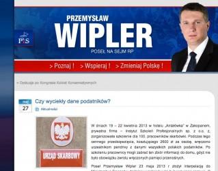 Strona Przemysława Wiplera