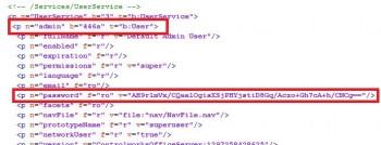 Plik konfiguracyjny googlowego ICS-a z zakodowanym hasłem