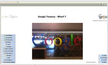 Konsolka sterowania budynkiem Google