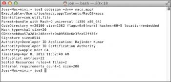 Mac Trojan Developer ID