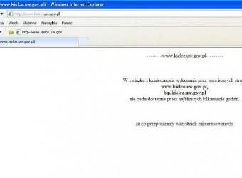 Kielecki Urząd Wojewódzki zhackowany