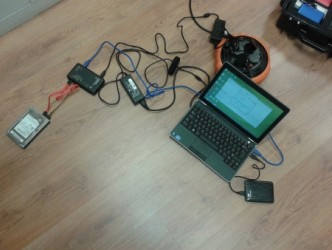 Sprzęt DDoS-era (fot. policja)