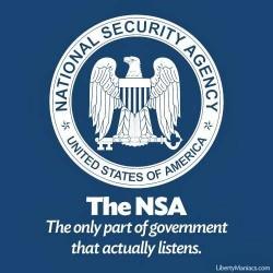 NSA - jedyna część rządu, która słucha obywateli