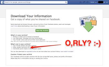Facebook - Download Your Information, narzędzie do pobierania kopii naszych danych z Facebooka
