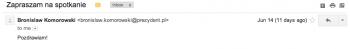 Fałszywy mail od prezydenta