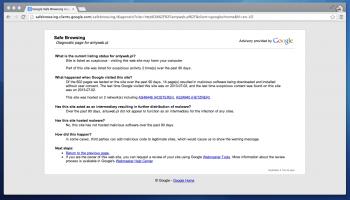 Google ostrzega przed wejściem na stronę Antyweb