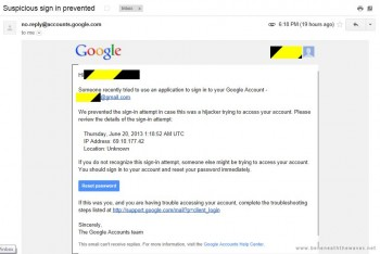 GMail wykrywa połączenia z serwerów Motoroli jako podejżane