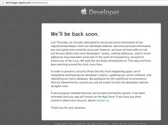 Apple Developer Center hacked