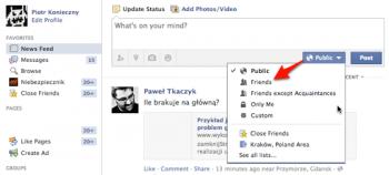 Facebook - ustawienia prywatności