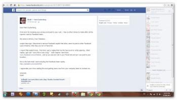 Pełna treść skargi Khalila na ścianie Zuckerberga