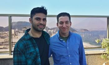 Glenn Greenwald (po prawej) i jego partner David Miranda