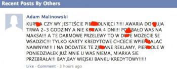 BZWBK Facebook - opinie klientów banku